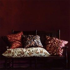 Silk Embroidery - 'Fruit' by William Morris, from the William Morris fabric collection