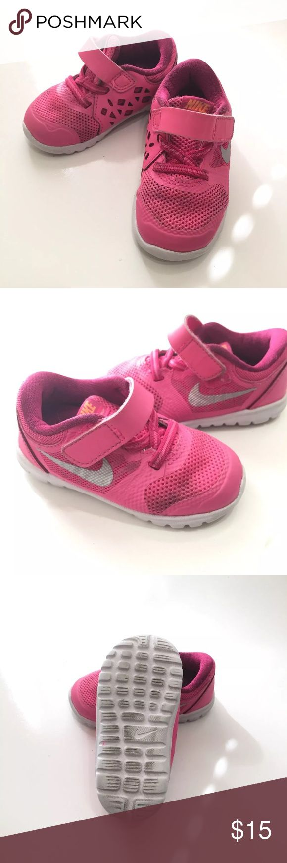 Girls Nike Flex Experience Pink Size 5 These preloved Nikes are in good condition. Just need to be cleaned Pink & white Brand: Nike Size: 5c toddler Nike Shoes Sneakers