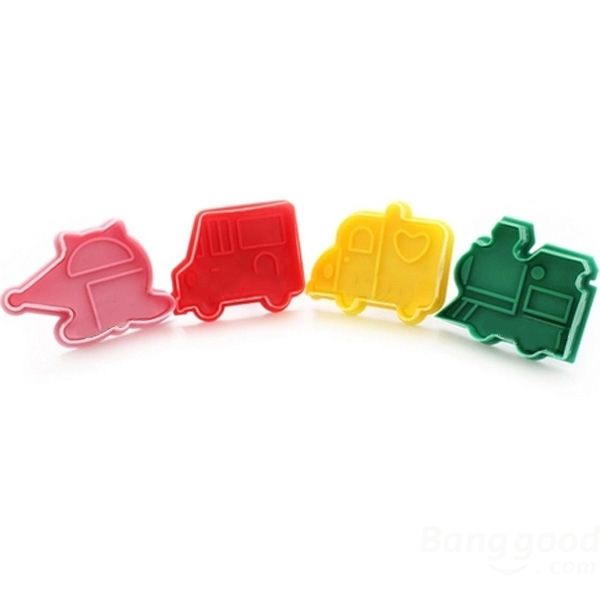 3D Three-dimensional DIY Four Car Biscuits Mold