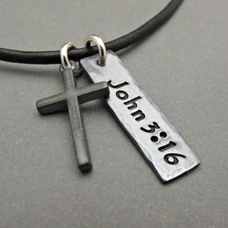 Mens Cross Necklace - Mens Cross Jewelry - Cross Pendant - Boy Gift - Gift for Men - Custom Jewelry - Father's Day Gift - Cross Charm by OrganicRustCreation on Etsy https://www.etsy.com/listing/268976806/mens-cross-necklace-mens-cross-jewelry
