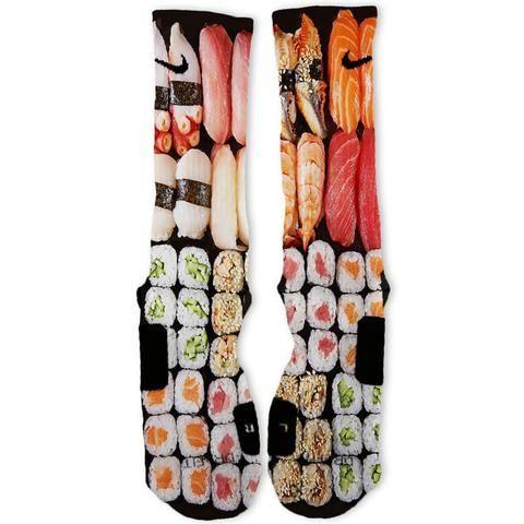 Sushi Custom Nike Elite Socks