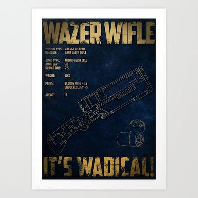 Wazer Wifle Poster Art Print by Angus Geidesz - $15.60