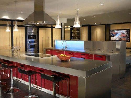 Good Red Kitchen Bar Lighting Design | Environment: Interior U2013 Bar Design |  Pinterest | Red Kitchen, Light Design And Kitchens