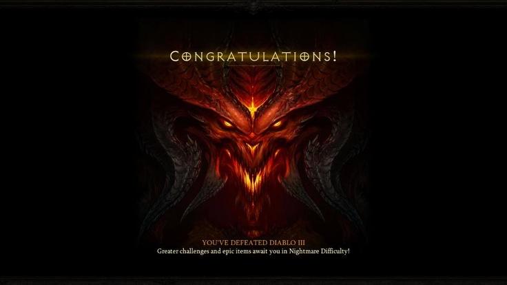 Diablo 3 ending screen #diablo3 #rpg #mmo #game