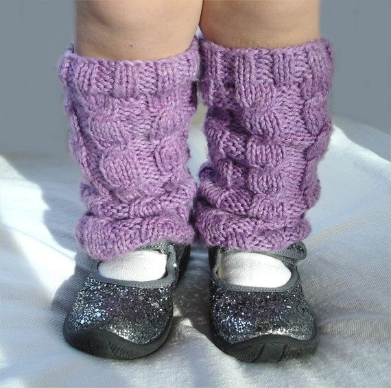 Knitted Dresses Patterns : Knitting PATTERN- Cabled Leg Warmers PDF