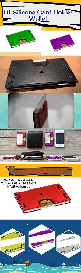 A1 Silicone Card Holder Wallet. A1 Silicone Card Holder Wallet in different colors available.  Visit Us: http://www.wallum.eu/collections/a1-silicone-wallet