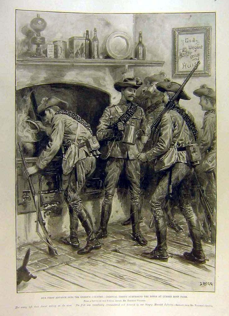 1900 Boar War-Lubbes Hopp Farm-Colonials Troops