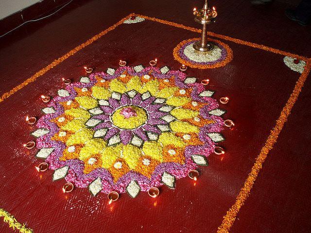 Kerala Onam Pictures: Onam Pookalam