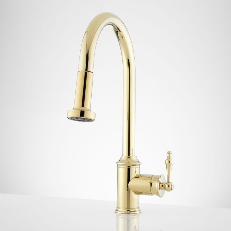 Charming Bainbridge Single Hole Pull Down Kitchen Faucet With Traditional Lever   Kitchen  Faucets   Kitchen