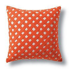 cushion covered in ribbon