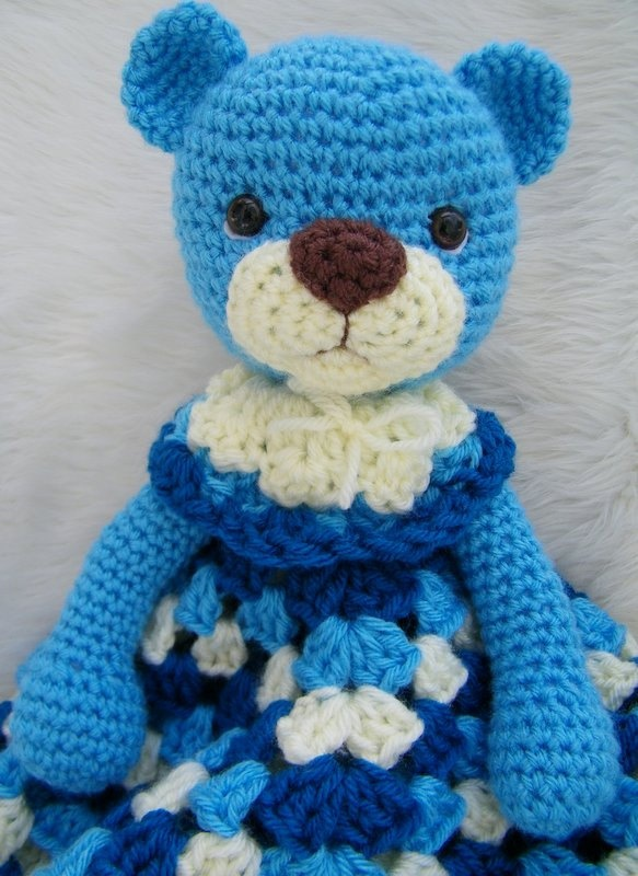 Free Crochet Pattern Huggy Blanket : Crochet Pattern Teddy Bear Huggy Blanket by Teri Crews ...