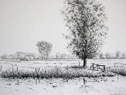 Afbeeldingsresultaat voor houtskooltekeningen landschap