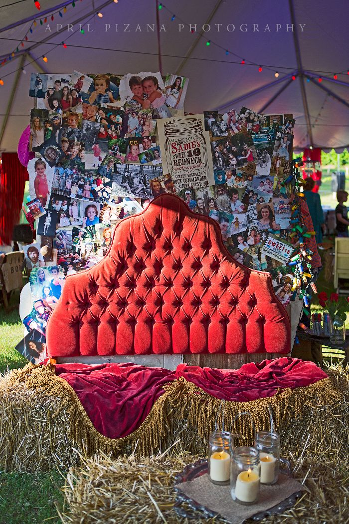 Details...Redneck Red Carpet - Sweet 16 Party for Sadie Robertson (Duck Dynasty), Styled by the Junk Gypsies - Photography by April Pizana »