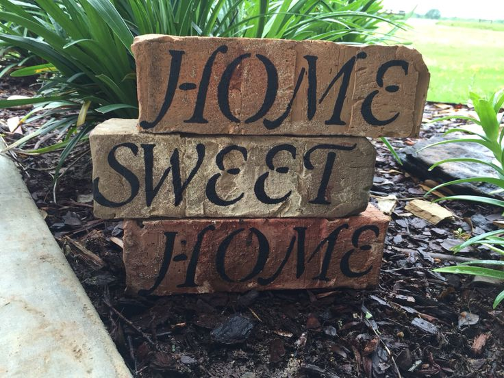 Use left over bricks from your house to make a keepsake home sweet home