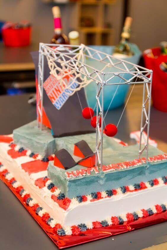 American Ninja Warrior Birthday Cake