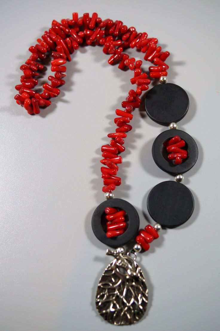 Red Coral & Sterling Silver