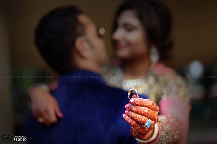 The original photo by Mohindra Studio, Ludhiana #weddingnet #wedding #india #indian #indianwedding #weddingdresses #mehendi #ceremony #realwedding #lehenga #lehengacholi #choli #lehengawedding #rings #engagement #diamonds