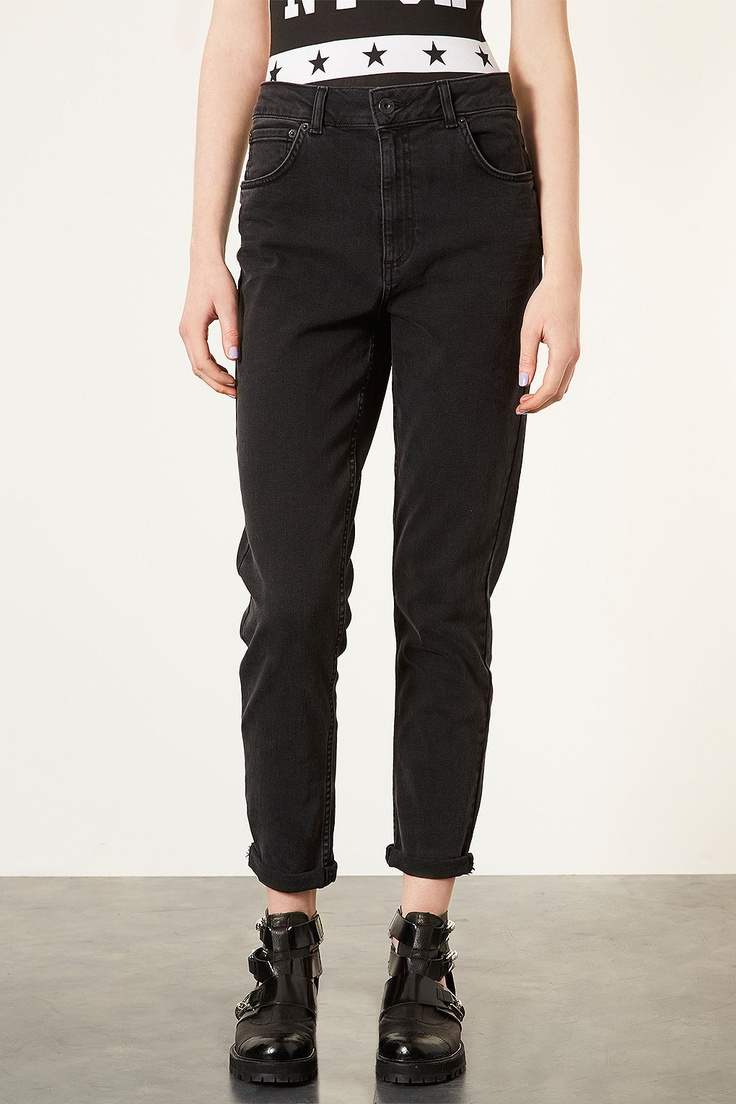 moto black wash high waisted mom jeans jeans trousers. Black Bedroom Furniture Sets. Home Design Ideas
