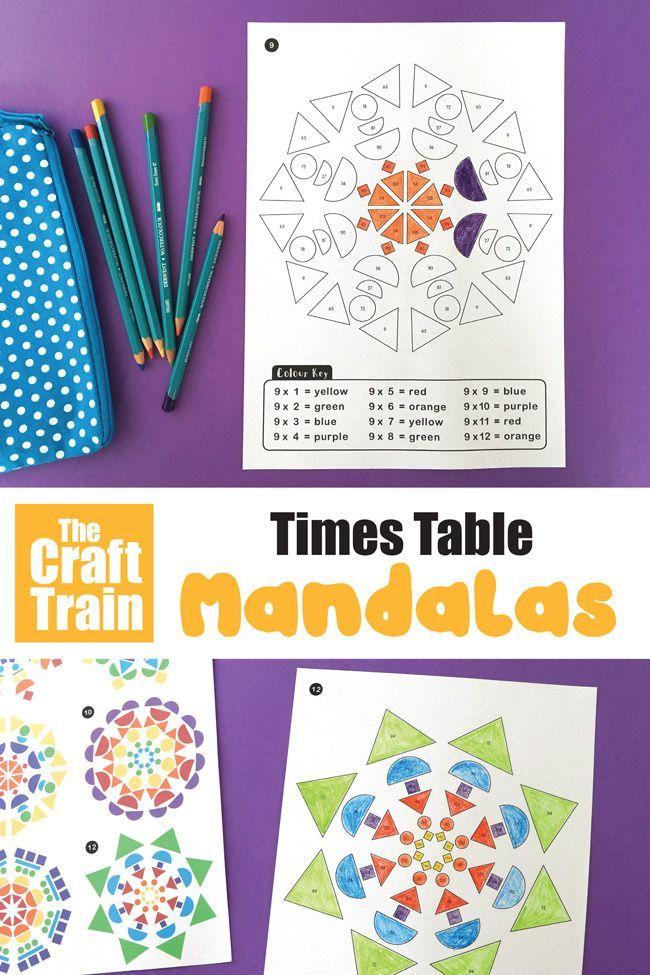 Multiplication Mandalas The Craft Train Math Art Activities Math Activities Math Coloring