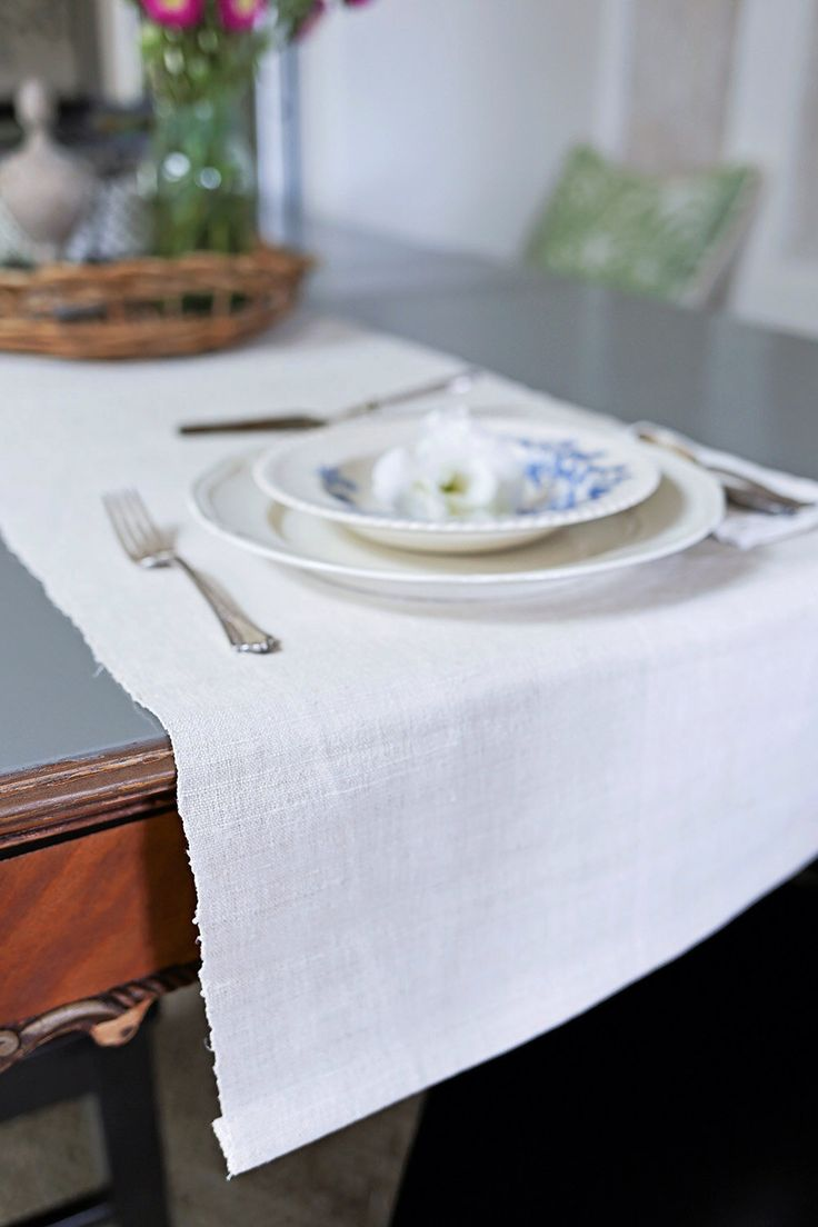 Eight foot natural hemp table runner natural tables and for 10 ft table runner