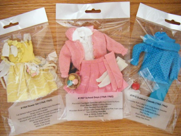 Vintage Barbie SKIPPER Archival Quality Clothes DISPLAY BAGS 64-66 lot Organize!