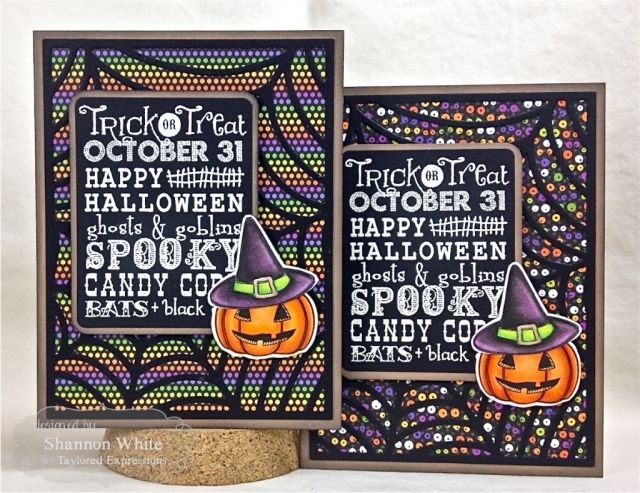 Trick or Treat Halloween Doodles Cards by Shannon White #Cardmaking, #Halloween