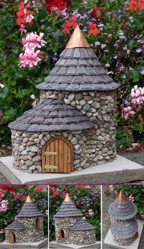 Diy Miniature Stone Fairy House Tutorial Fairy Garden 400 x 300