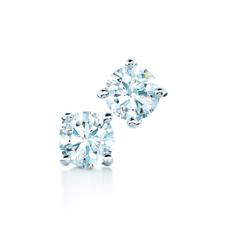 Always brilliant. Tiffany diamond earrings. #TiffanyPinterest #solitaireearrings #diamondstuds