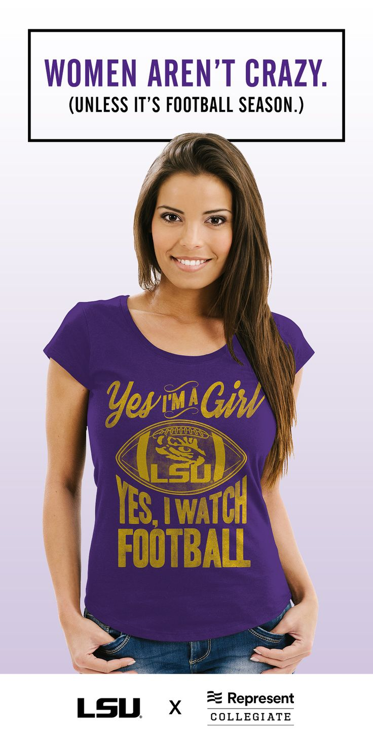 Some women are a little crazy about their Tigers.  Thats why we created our unique, highly-personalized LSU gear with you in mind!