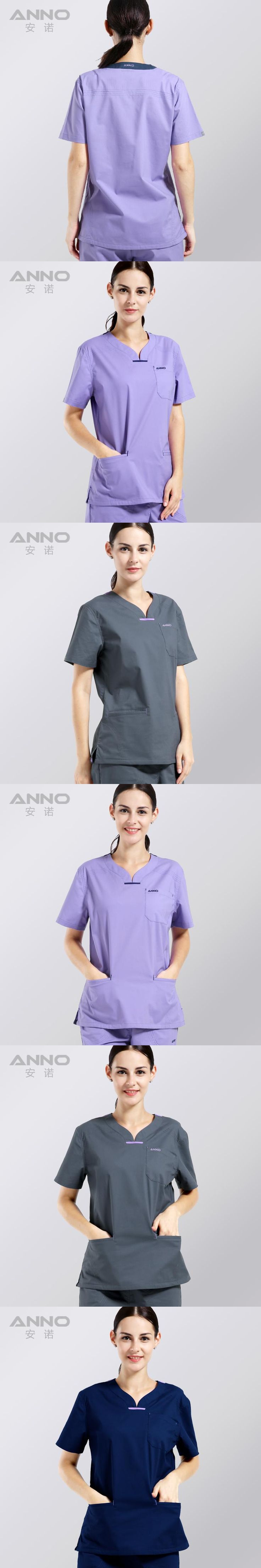 summer women's clothing medical hospital scrubs nurse uniform dental clinic and beauty salon fashion design slim fit