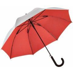 Зонт-трость Fare 7119 серебряный/красный
