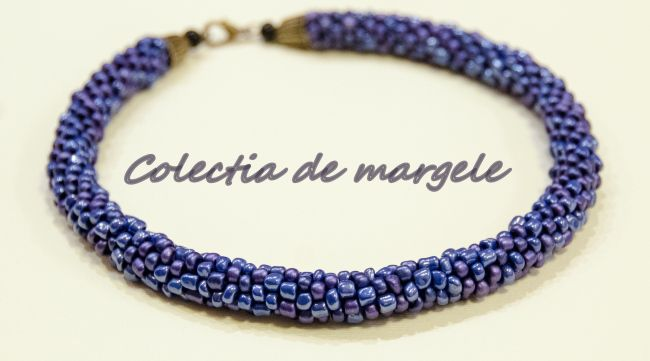 Magic night - beading croche necklace by Colectia de margele  http://colectiademargele.ro/
