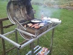 Barbeque van een biervat, leuke zelfgemaakte #BBQ