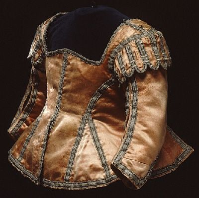 Bodice, Queen Christina, age 2.  Christina of Sweden (1626-1689)  Sara Larsdotter Stiernflycht  1628, Royal Armoury  9378 (4322)