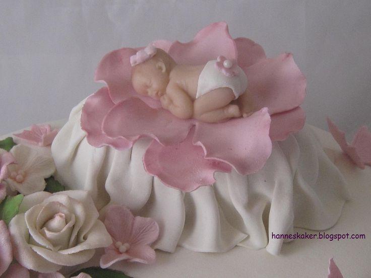 Hanne`s kaker - [ cakes by Hanne ]: Marsipan baby på en seng
