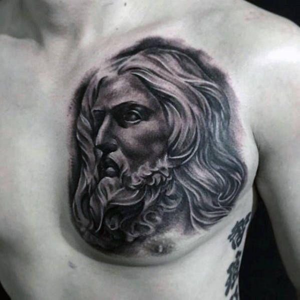 40 Jesus Chest Tattoo Designs For Men Chris Ink Ideas 1000 In 2020 Strength Tattoo Designs Chest Tattoo Tattoo Designs Men