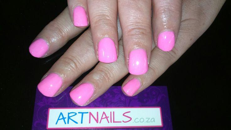 Pink acrylic overlay i did