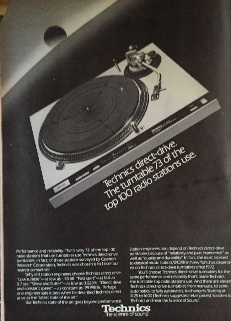 Technics turntable ad #dj