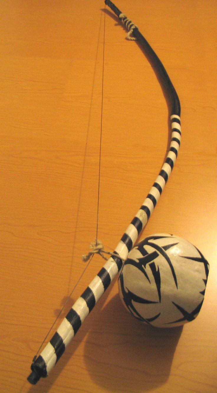 black and white berimbau
