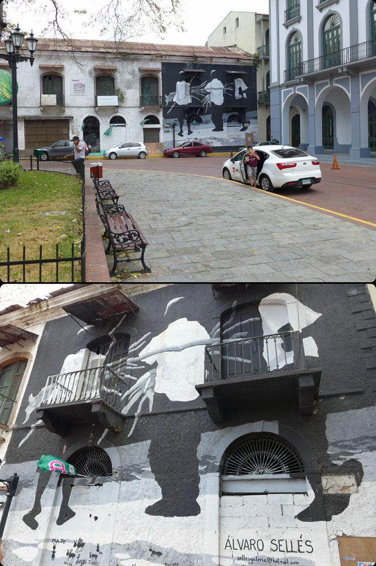Fantastic street art by Alvaro Gomez Selles in Panama City