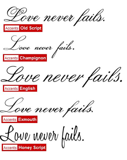 (Love the fonts.. Different words though