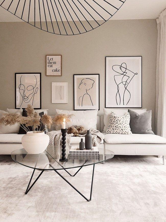 rebfre Schöne Wohnzimmer-Innenraumidee #Wohnzimmer #interiorideen #woonkamer