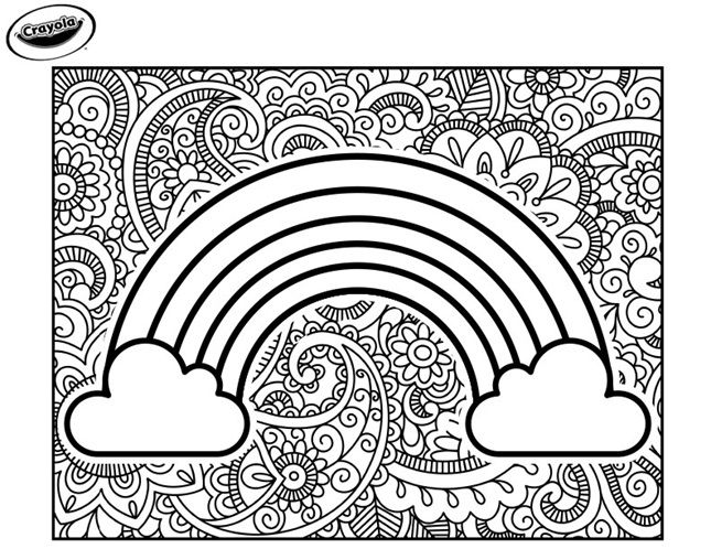 Color Our Free Rainbow Coloring Page To Print And Color This Roygbiv Rainbow Coloring Sheet Download Coloring Pages Crayola Coloring Pages Free Coloring Pages
