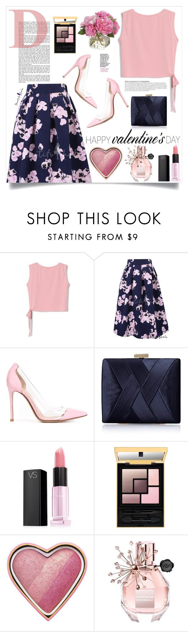 """""""Valentine's Day Date Outfit"""" by katrinaalice ❤ liked on Polyvore featuring Anja, Gianvito Rossi, La Regale, Victoria's Secret, Too Faced Cosmetics, Viktor & Rolf, Diane James, women's clothing, women and female"""
