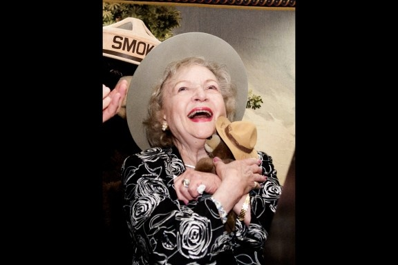 2010  BETTY WHITE  she was made an honorary forest ranger