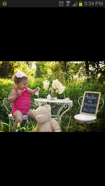 Maybe soon...just too cute. Pregnancy announcement - sibling announcing baby- big sister