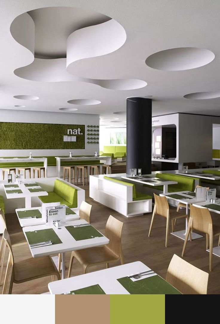 30 Restaurant Interior Design Color Schemes | Design Build Ideas Other more subtle colors, like pastels, green, or blue, are considered cool colors and are known to promote a more reassuring and inspiring mood. But, at the same time, blue can be an appetite suppressant, which is probably not what the chef is looking for! This makes blue an unusual color for restaurants, as you will notice.