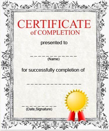 downloadable certificates of completion - Tomburmoorddiner