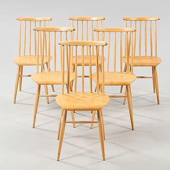 Six chairs, second half of the 20th century.