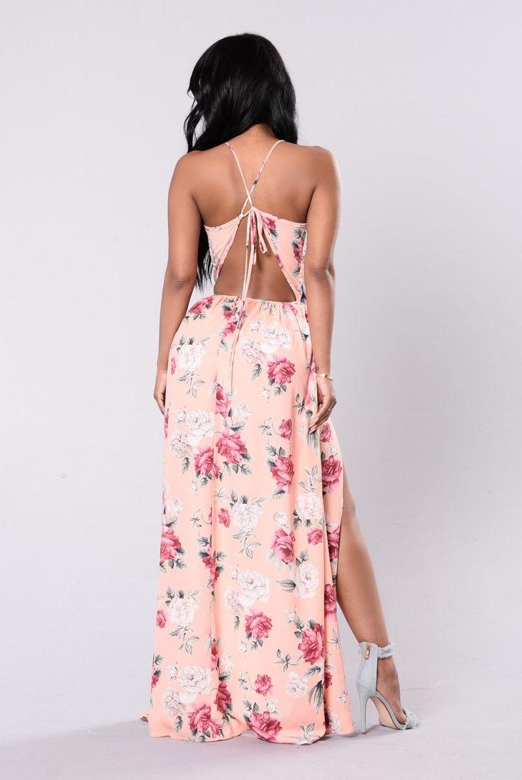 Overlay Day Dress - Peach